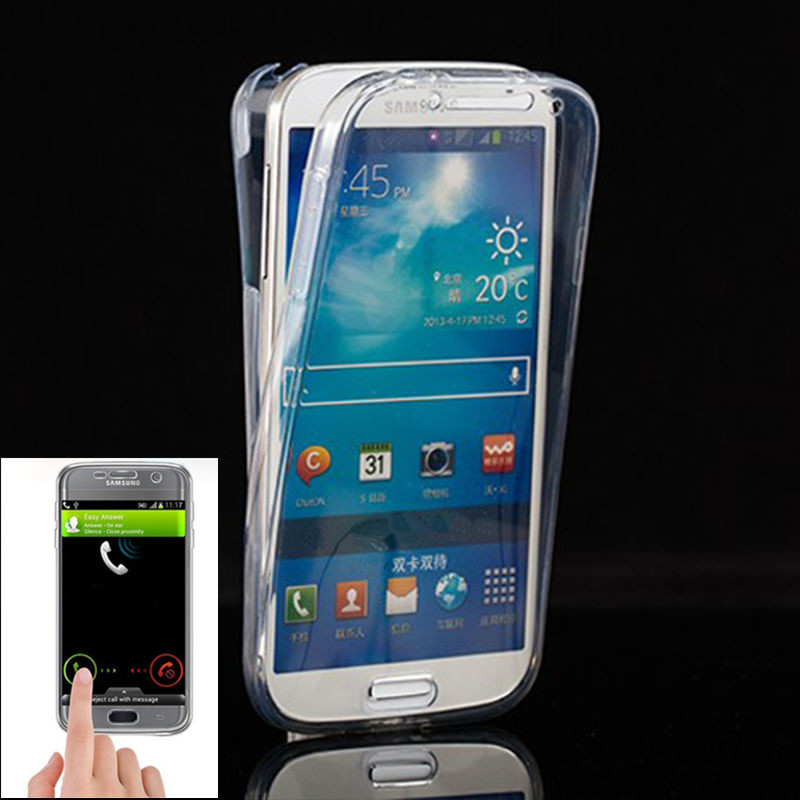 J105 Crystal Touch Full body Transparent Case for Samsung Galaxy J1 Mini Cover Soft 360 Silicone Phone bag Cases 105 SM J1mini