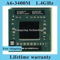 Пожизненная гарантия A6 3400 м 1.4 ГГц четырехъядерных процессоров ноутбук процессоры ноутбук процессора AM 3400 гнездо FS1 722 контакт. компьютер оригинальный