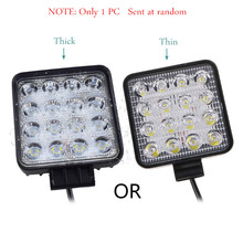 1 PC 48 W Vehicle Headlights 16 LEDs Cool White Light Bar 4