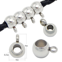 20pcs Stainless Steel Pendant Clip & Pendant Claps Silver Tone Bail Beads for DIY Jewelry Making Findings Hole 3/4mm