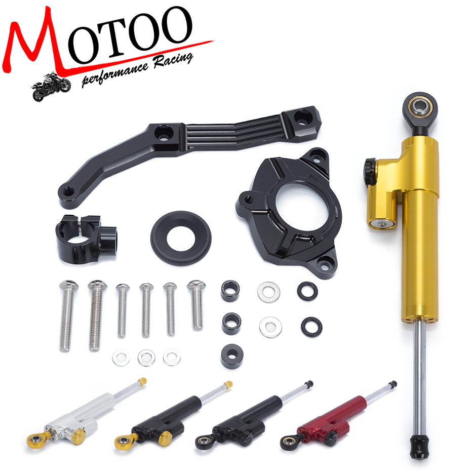 Motoo- Motorcycle Full set CNC Steering Damper Stabilizerlinear Linear Stabilizer Bracket for KAWASAKI Z1000 2010 2011 2012 2013