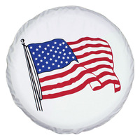 Monnet High quality Universal US Flag pattern Spare Tire Type Cover Size 15