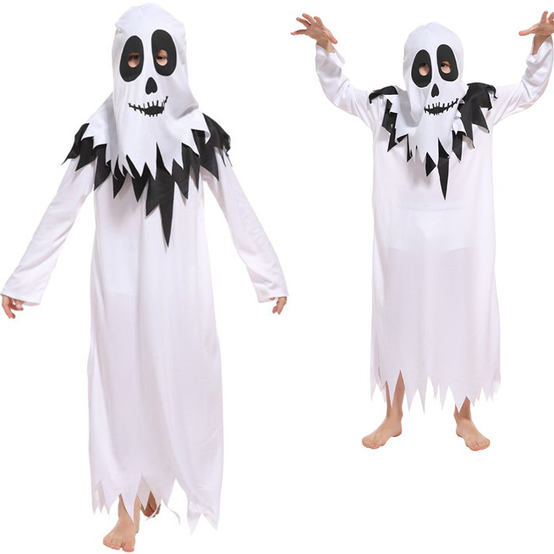 Halloween Children Show Costume Game Vampire Cosplay Boy Girl Halloween Carnival Party Jumpsuit + Headgear 2 Piece Set