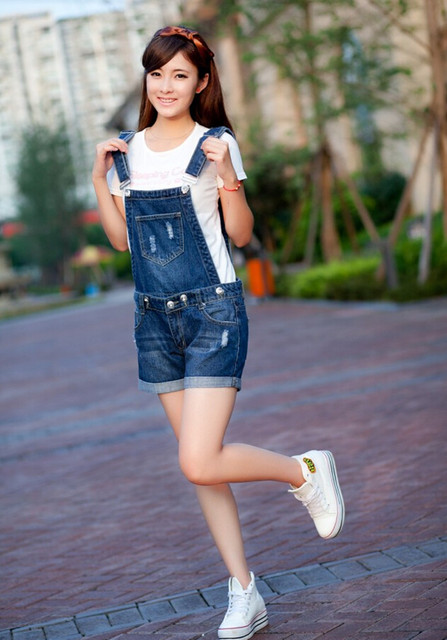Loose Jumpsuit Denim Overalls Shorts Jumpsuit Summer Jeans Jumpsuit