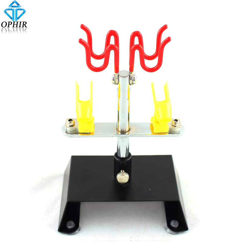 OPHIR Airbrush Holder 4 Guns' Holder Clamp-On Table Hold Airbrush Gun for Painting Model/Body/Nail Airbrush Accessories _AC013