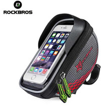 ROCKBROS Waterproof Road MTB Bike Bicycle Front Top Frame Handlebar Bag Cycling Pouch for 5.5 inch Cellphone Phone,5Colors New