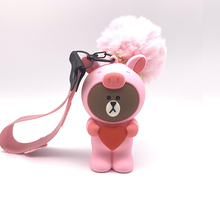 Q UNCLE Phone Strap 3D Cartoon Mini Head Lanyard for Keys Badge Gym Key / Mobile USB Holder DIY Silicone