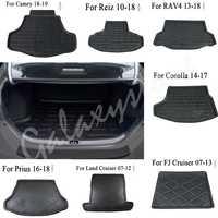 Rear Trunk Cargo Linear Floor Mat For Toyota Camry Corolla FJ Land Cruiser Highlander Prado