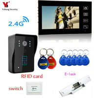 Yobang Security 7 inch Wireless Video Doorbell Intercom 1 to 1 Home Wireless Video DoorBell Dooor Bell Door Video Intercom