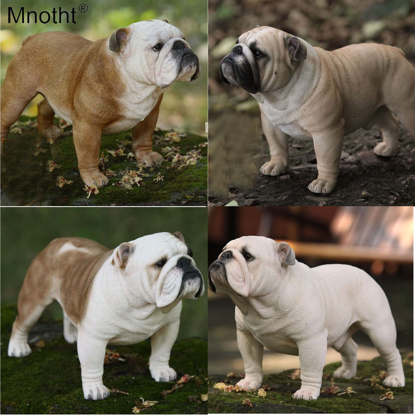 Mnotht Collections 1/4 Scale British Bulldog Model Toys Sculpture Dog Model for 1:4 Soldier Scene Action Figures Accessories-in Action & Toy Figures from Toys & Hobbies    1