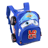Hot Sale Cartoon Car Backpack Children School Bags Kids Book Bag Baby Toddler Kindergarten Boys Girls