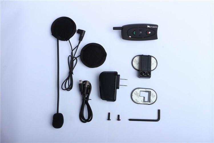 500M Wireless Bluetooth Motorcycle Helmet Intercom for 2 Riders Interphone Earphone Headset 1PcsSet (12)