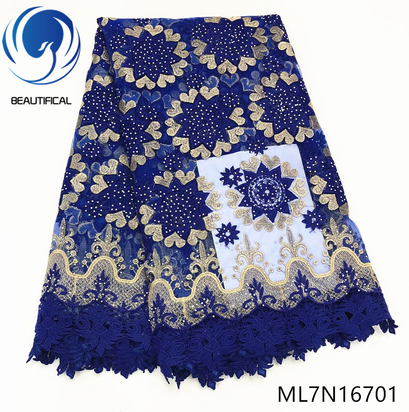 Beautifical nigerian lace fabrics 5yards/lot french net lace embroidery fabric Fashion design french lace guipure lace ML7N167Beautifical nigerian lace fabrics 5yards/lot french net lace embroidery fabric Fashion design french lace guipure lace ML7N167
