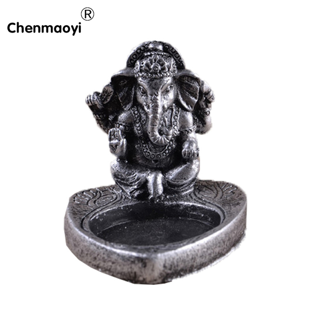 Resin India Buddha Candle Holders Wedding Decor Gifts Silver Color