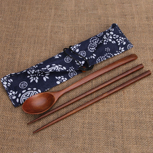 Китайские палочки для еды, экологически чистые портативные деревянные столовые приборы, деревянные палочки для еды и ложки, дорожный костюм