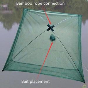 Image 2 - New Enhanced version 4 side 60 100 cm, fish, shrimp, crab, nylon bait fishing net folding easy to carry fishing net