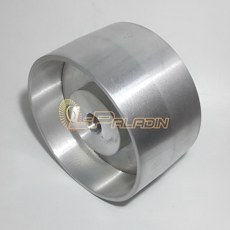 Image 2 - 180*100*25mm Fully Aluminum Contact Wheel Belt Grinder Driving Wheel-in Abrasive Tools from Tools