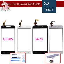 5.0 For Huawei Ascend G620 G620S LCD Touch Screen Digitizer Sensor Outer Glass Lens Panel Replacement