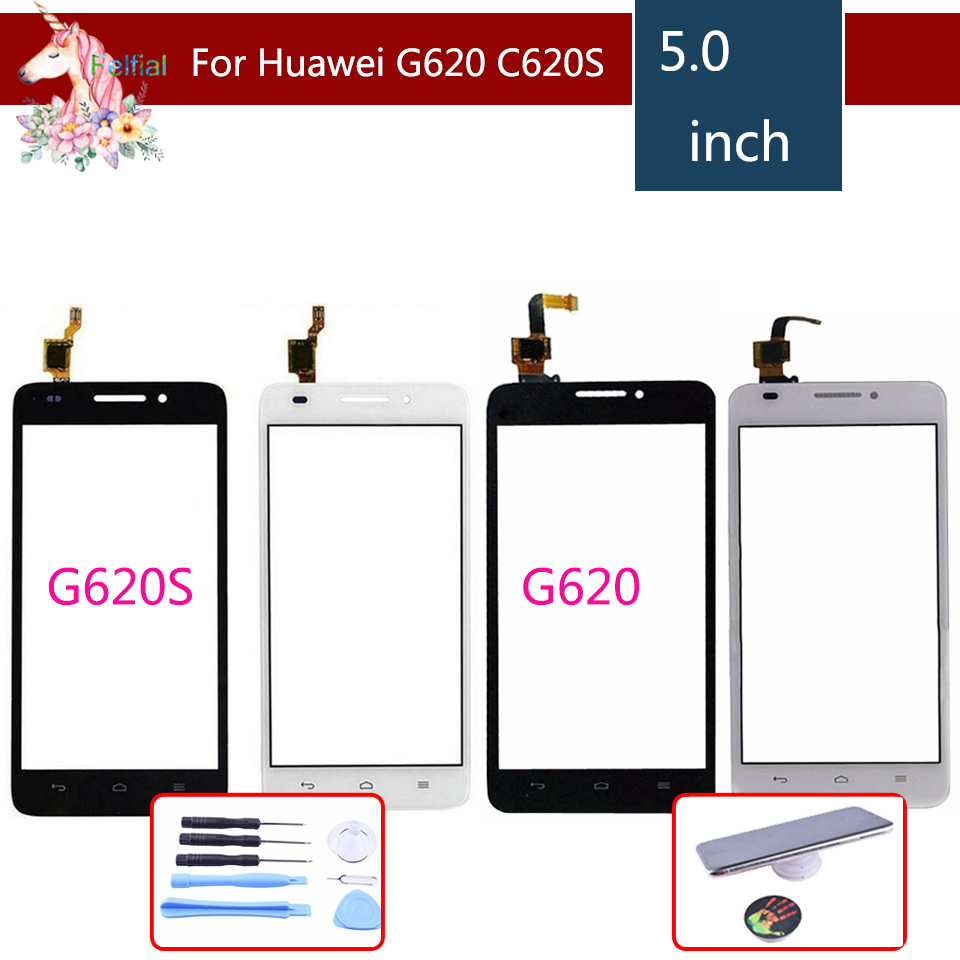 """5 0"""" For Huawei Ascend G620 G620S LCD Touch Screen Digitizer Sensor Outer Glass  Lens Panel"""