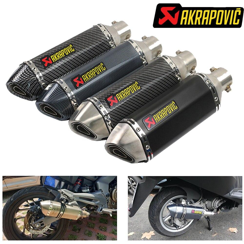 51mm akrapovic motorcycle exhaust with db killer muffler for mt 07 bmw s1000rr 2018 x adv honda ruckus xt 600 &T024