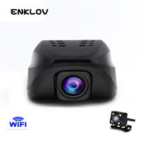 ENKLOV Car Dvr WIFI DVRs Night Version Dashcam Digital Video Recorder Camcorder Full HD 1080P Dual