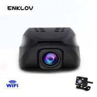 ENKLOV Car Dvr WIFI DVRs Night Version Dashcam Digital Video Recorder Camcorder Full HD 1080P Dual
