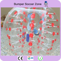 Dia 1.2m TPU Bubble Soccer Football Ball For Children Zorb Ball Inflatable Human Hamster Ball Bumper Ball(soft handles)
