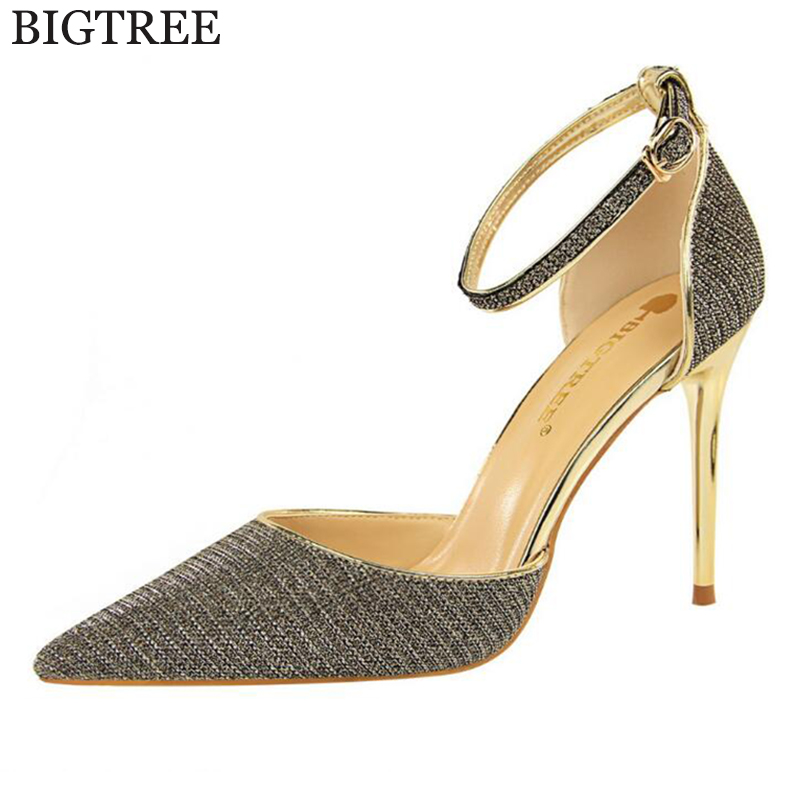 2018 new Fashion High Heels Newest Women Pumps Summer Women Shoes Thick Heel Pumps Comfortable Shoes Woman Wedding shoes c69