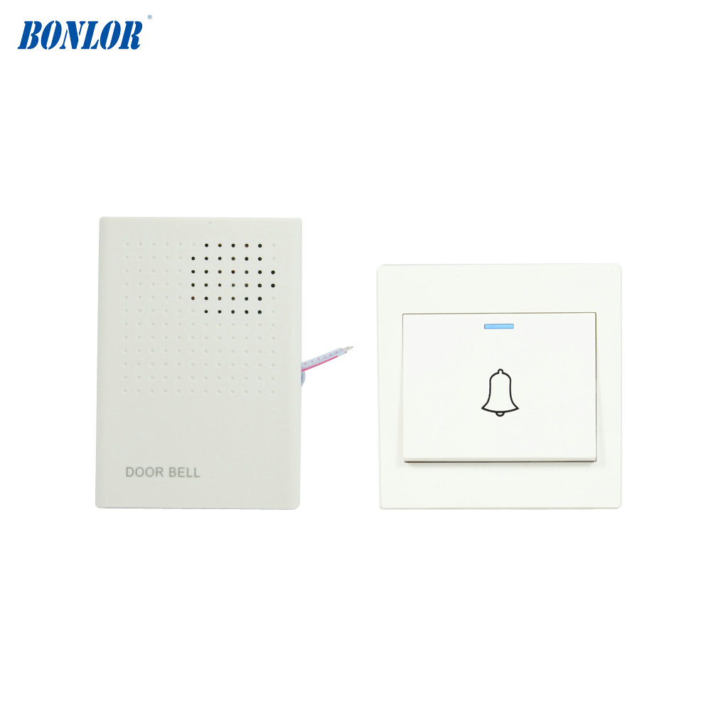 1 Full Set Home Use Door Bell Push Button And Electronic Doorbell Use AAA Battery Free Shipping Dingdong Freeshipping