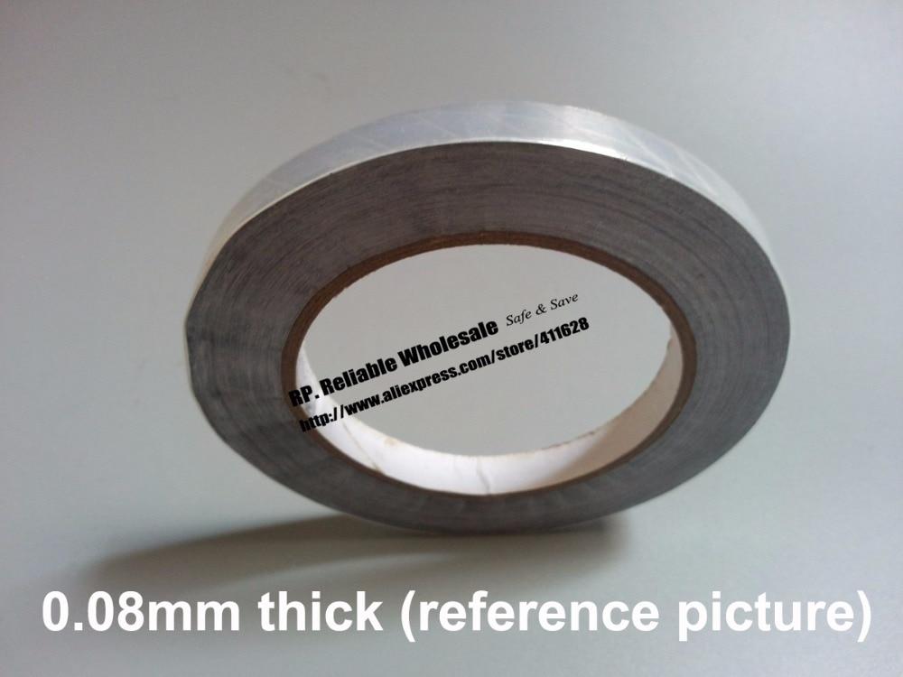 85mm x 40 M 0.08mm épaisseur un visage isolation thermique imperméable à l'eau en aluminium feuille de colle bande adaptée pour la cuisine, réfrigérateur, tuyau Wrap