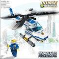 GUDI Ciudad Serie Bloques de Construcción de Helicópteros de la Policía Policía Montan Bloques de Juguetes Educativos Bloques de Juguete de BRICOLAJE