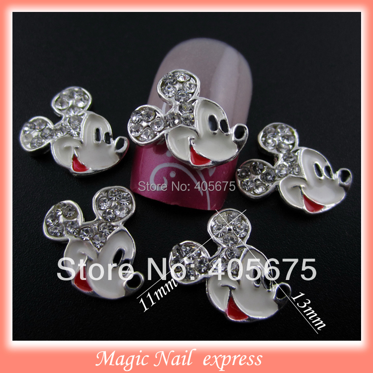MNS183 Cartoon mickey mouse nail art rhinestones strass 3d nail charms 10pcs 3 183 10 7706178 3