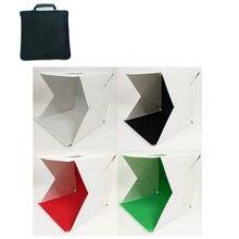 Dobrável lightbox fotografia mini photo studio softbox 30*30cm led luz suave caixa de foto fundo kit caixa de luz para câmera dslr