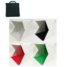 Folding Lightbox Photography Mini Photo Studio Softbox 30*30cm LED Light Soft Photo Box Background Kit Light box for DSLR Camera