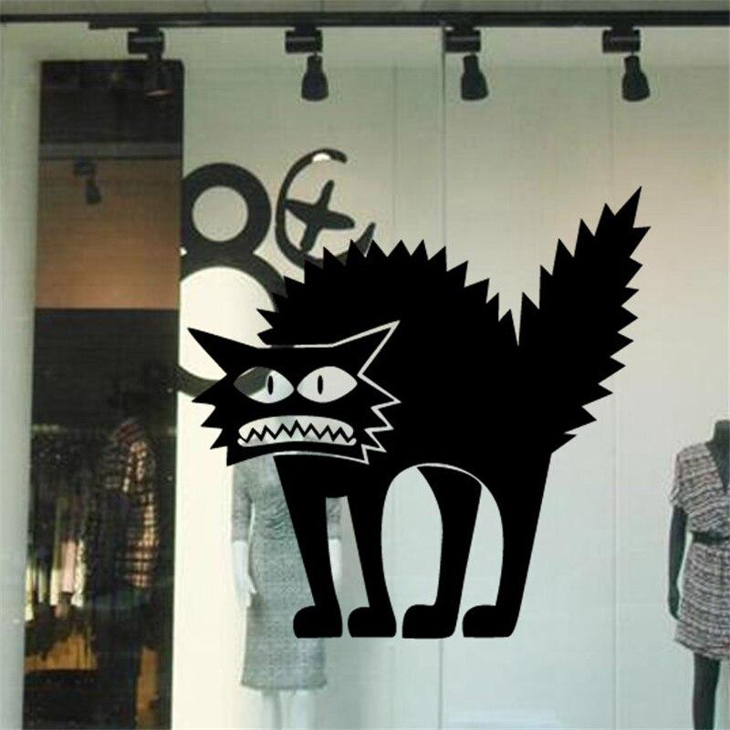 3d halloween decoration black horror cats wall sticker bedroom living room floor stickers decor window vinyl