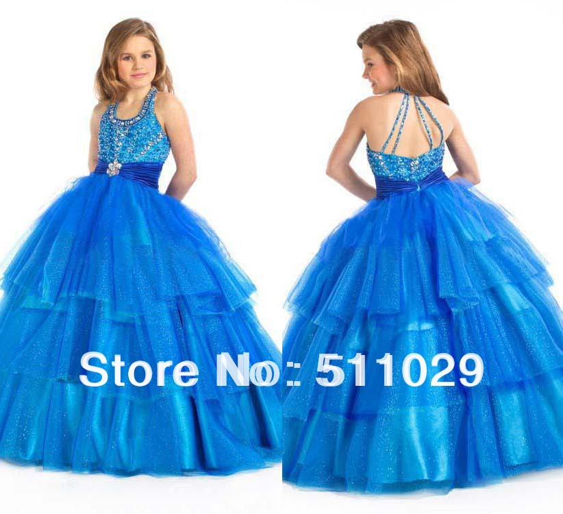 FREE SHIPPING FG 032 Fancy layered tulle skirt ball gown designs for ...