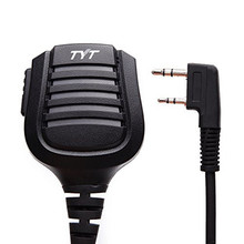 TYT Waterproof Remote Speaker Mic 2 Pin Walkie Talkie IP57 for TYT Tytera Most of Two Way Radio TH-UV8000E Digital MD-380 MD-390
