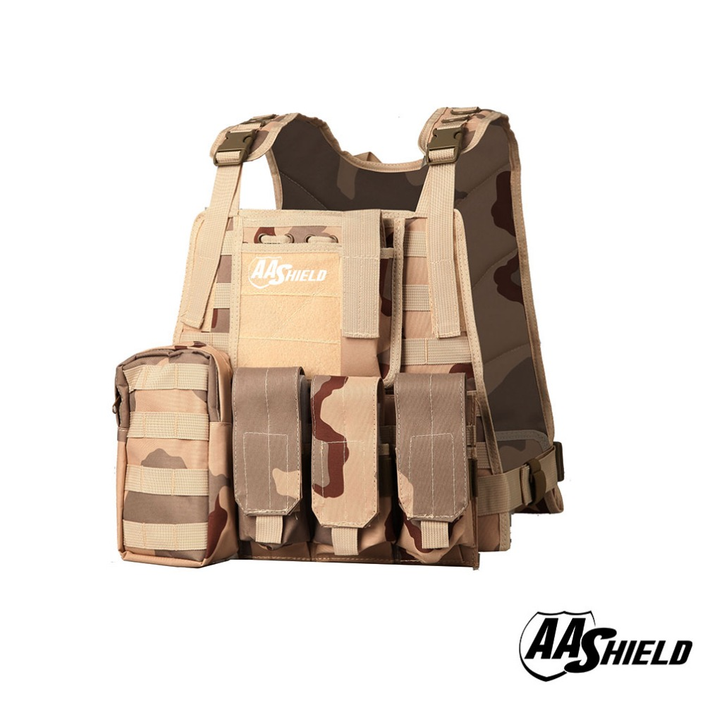 AA Shield Molle Hunting Plates Carrier MBAV Style Military Tactical Vest / 3 Sand aa shield camo tactical scarf outdoor military neckerchief forest hunting army kaffiyeh scarf light weight shemagh desert dig