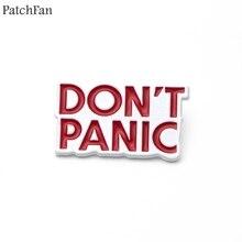 20 шт./партия, Patchfan, руководство по хихикеру для Галактики, цинковые булавки, рубашка, пальто, броши, одежда, рюкзак, металлический значок A0669