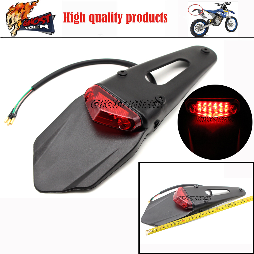 Polisport Motorcycle LED Tail Light&Rear Fender Stop Enduro taillight MX Trail Supermoto KTM CR EXC WRF 250 400 426 450 burly short sissy bar