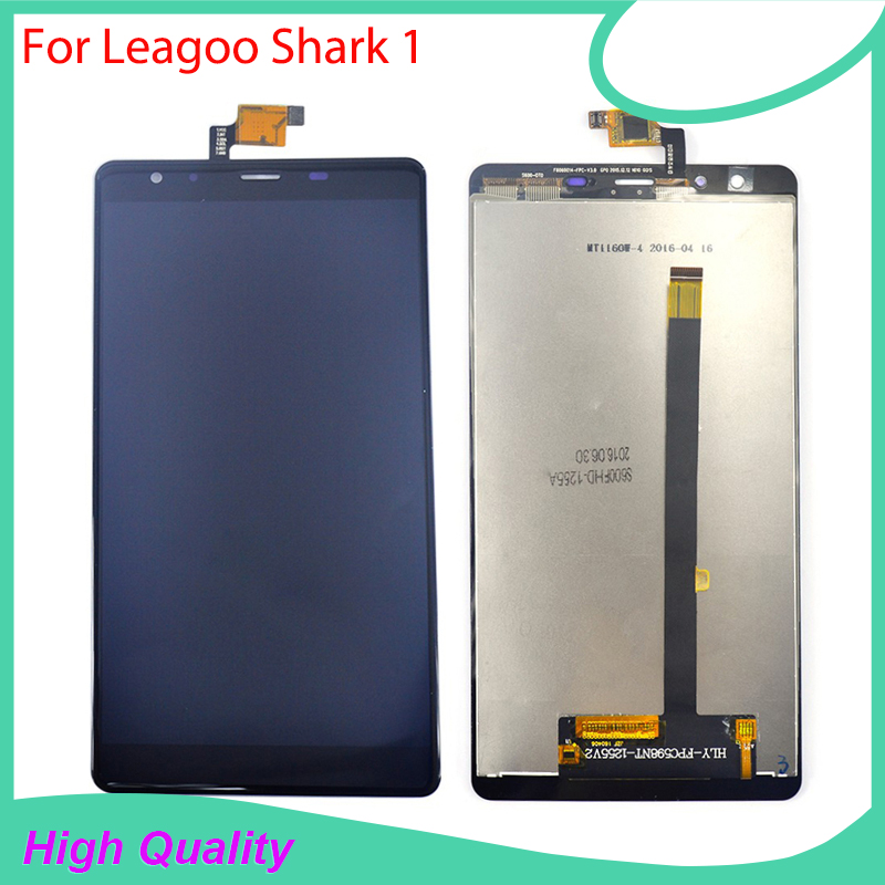For LEAGOO Shark 1 LCD Display Touch Screen  100% Original Screen Digitizer Assembly Replacement Cell Phone replacement original touch screen lcd display assembly framefor huawei ascend p7 freeshipping
