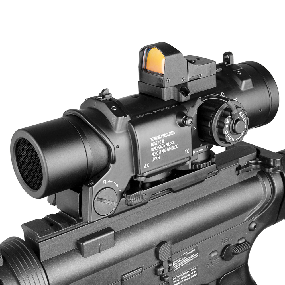 Combination Tactical 1X-4X Dual Role Optic Sight Rifle Airsoft Magnificate Scope Hunting Scopes Sniper Red Dot Ak 47 Riflescope