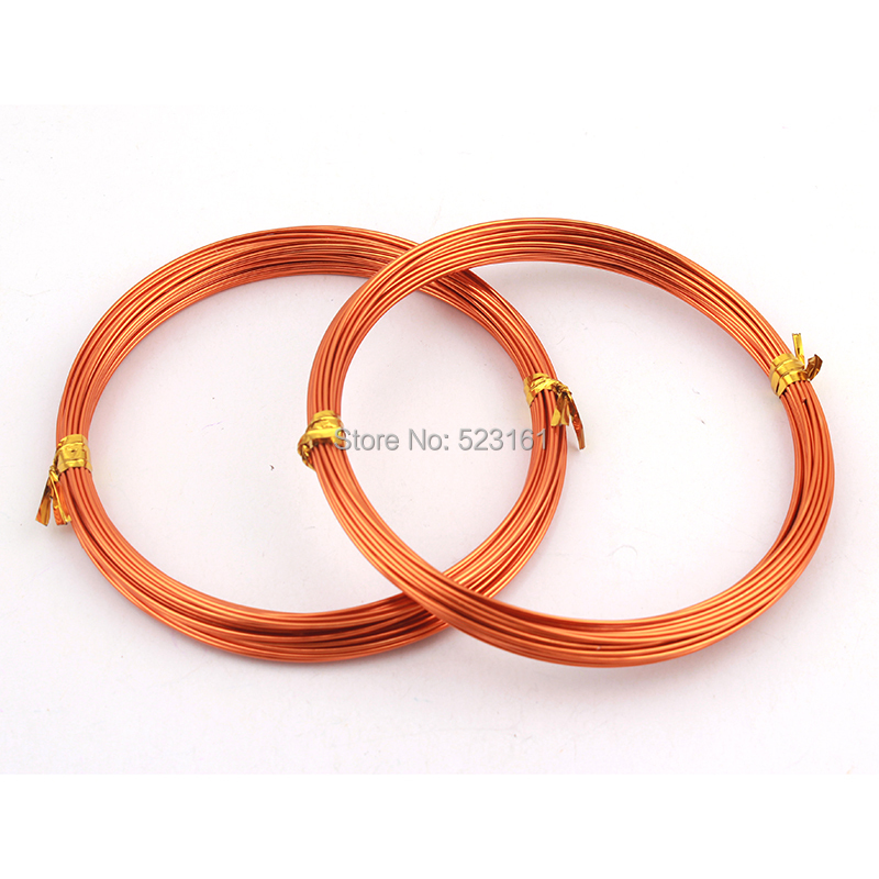 18 gauge orange colored anodized aluminum jewelry for 10 gauge craft wire