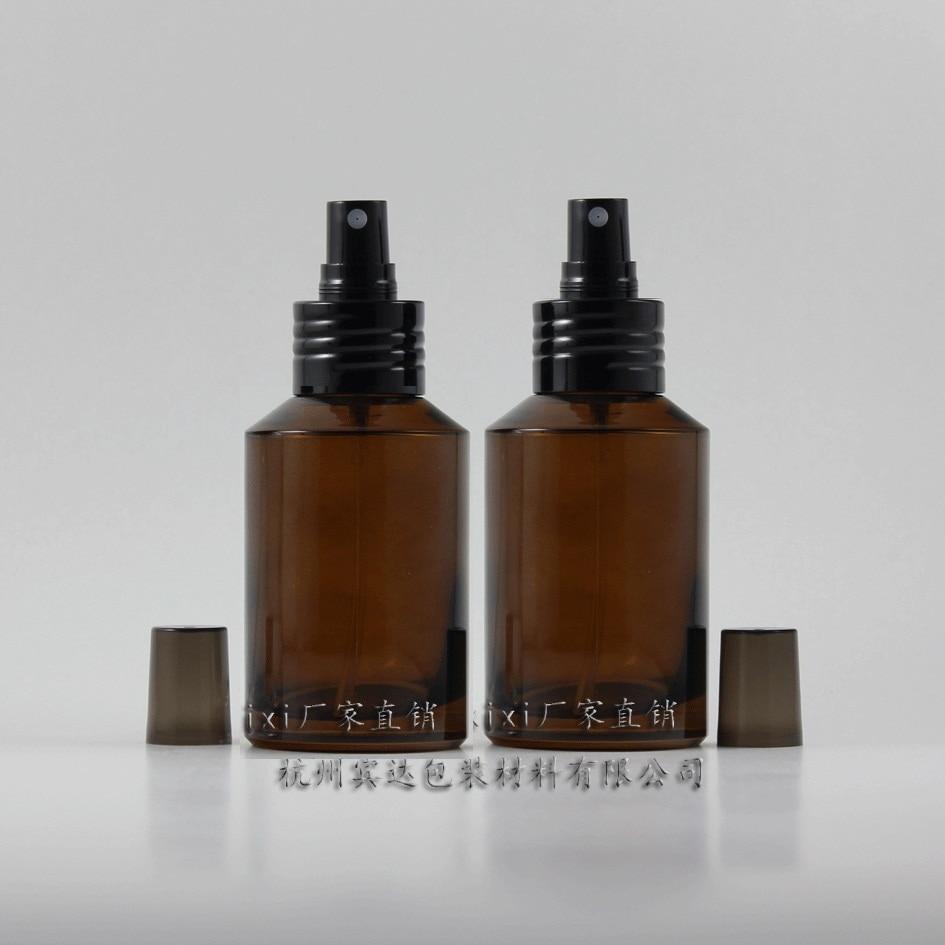 125 ml ronde amberkleurige reis navulbare parfumfles met aluminium - Huidverzorgingstools - Foto 1