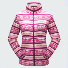 New Autumn Winter Outdoor Women Thermal Polar Fleece Coats Thick Warm Jackets Female Printing