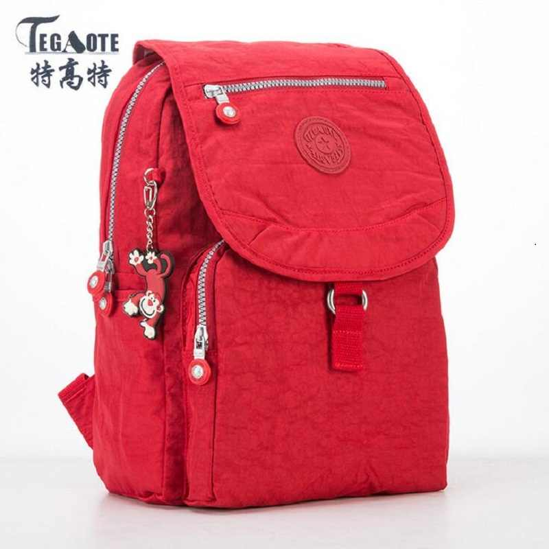 2019 Fashion TEGAOTE Women Backpack High Quality Youth Nylon Cute Backpacks for Teenage Girls Female School Shoulder Bag Bagpack