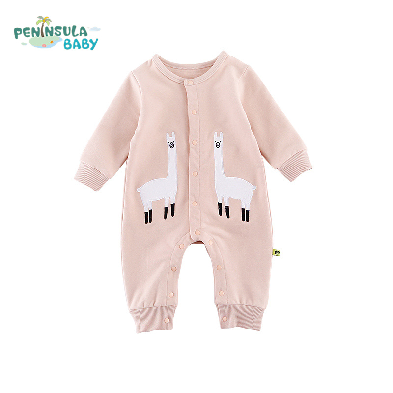c66778b81c9e Baby Girls Boys Clothes Cotton Toddler Pajamas Elephant Baby Rompers Long  Sleeve Newborn Outfits Infants One-piece Jumpsuits