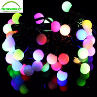 RGB LED Ball String Lamps Novelty Outdoor Lighting Black Wire Christmas Lights Fairy Wedding Garden Pendant