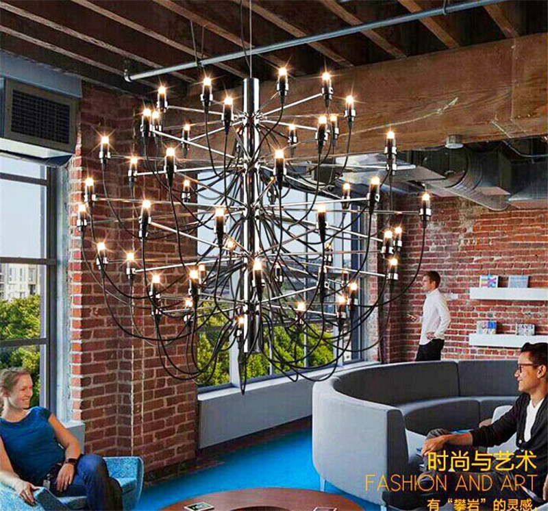 Modern minimalist Nordic lamp LED Villa Hotel project light simple personality atmospheric art living room ceiling