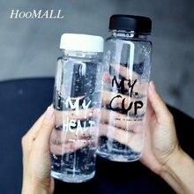 Hoomall Transparente Plástica Creativa Mi Jugo Botella de Agua Frasco de Agua A Prueba de Fugas Portátil de Viaje de Fitness Deporte Botella de Agua